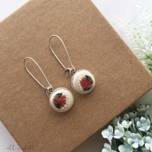 Pohutukawa Flower Dangle Earrings