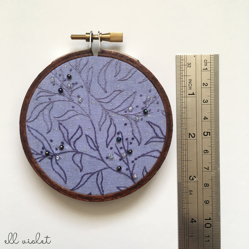 Mini Violet Thicket 02 Wall Hanging