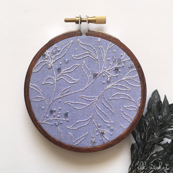 Mini Violet Thicket 01 Wall Hanging