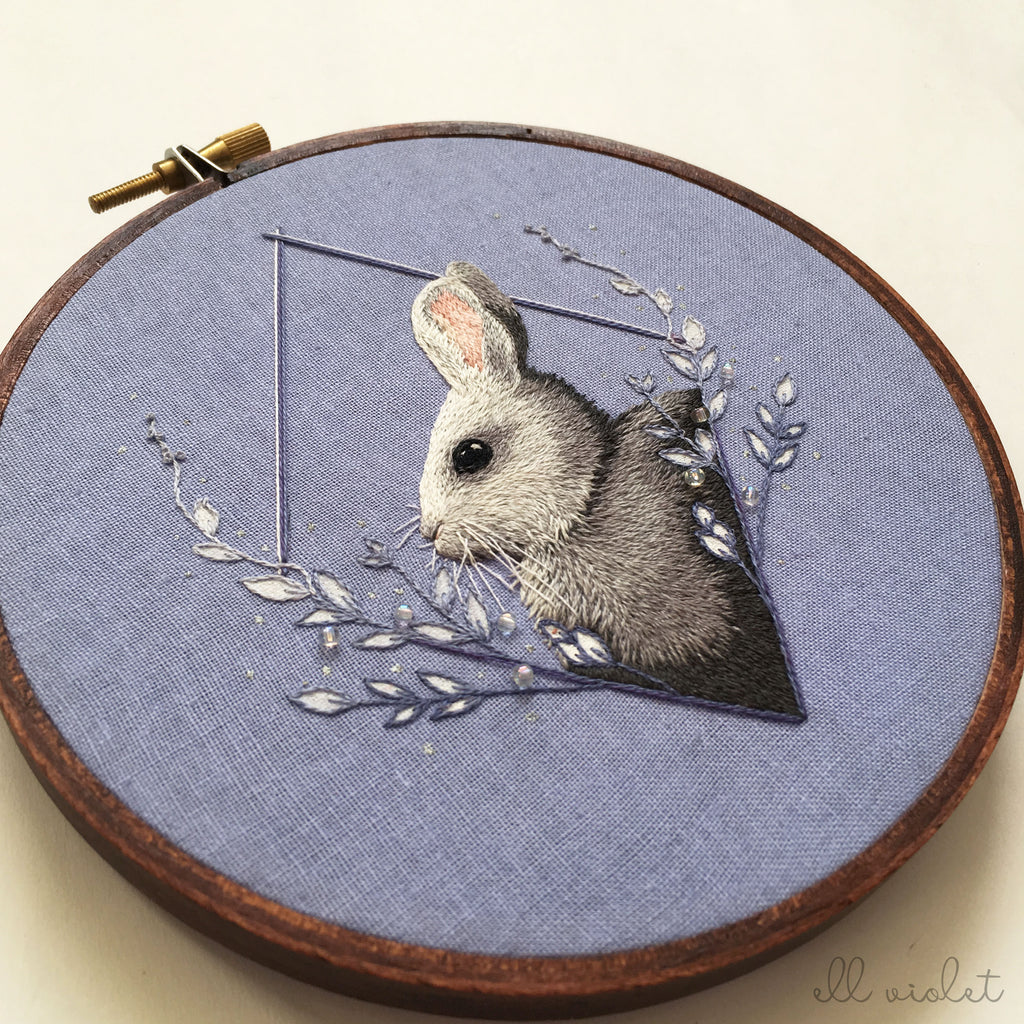 White Rabbit - Original Embroidery