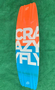 Crazyfly Addict Wakestyle Freestyle Kiteboard with Cabrinha H3 boots