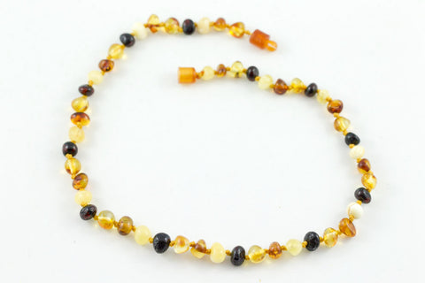 Multi Polished 100% Certified Baltic Amber Necklace