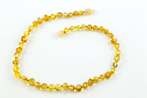 Polished Honey 100% Certified Baltic Amber Teething Necklace
