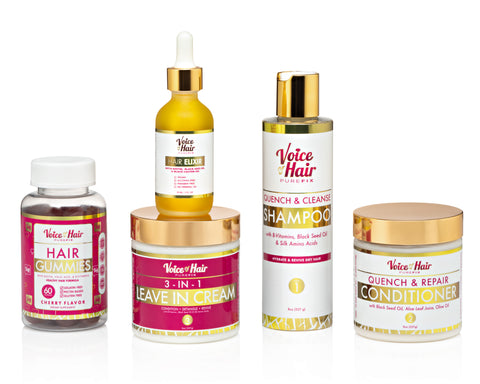 Birthday Bundle (shampoo, conditioner, leave in and hair elixir)