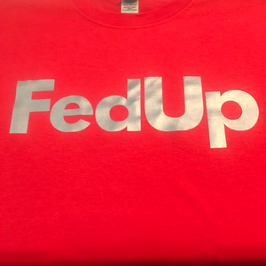 Red reflective FedUp t shirt