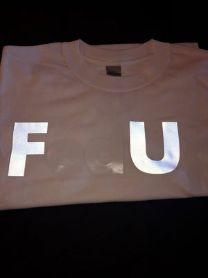 White FedUp T-Shirt FU style