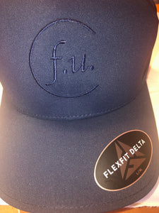 Navy blue fitted f.u. hat tone stitch. small/med and large / xl