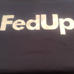 Navy Blue reflective FedUp t shirt
