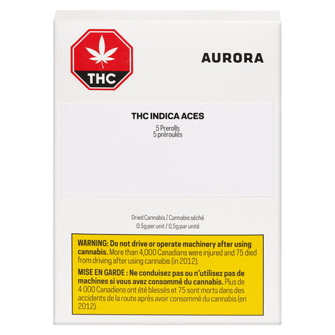 AURORA ACES THC (IND) PRE-ROLL - 0.5G X 5