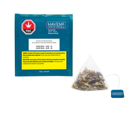 HAVEN ST NO 550 RISE (H) TEA BAGS - 10MG THC X 1