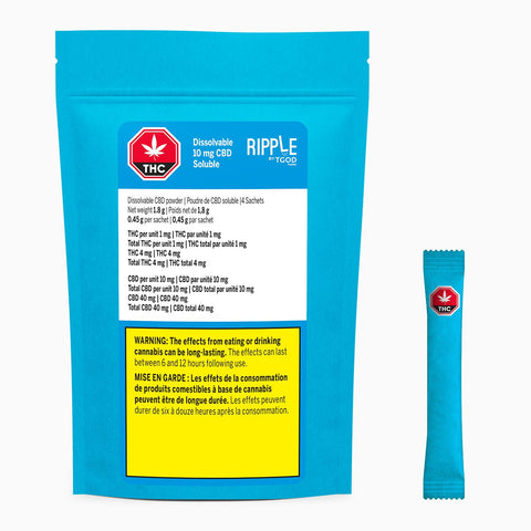 TGOD RIPPLE CBD (H) POWDER - 10MG CBD X 4