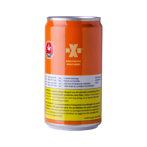 XMG MANGO PINEAPPLE SPARKLING (H) BEV - 10MG THC X 236ML