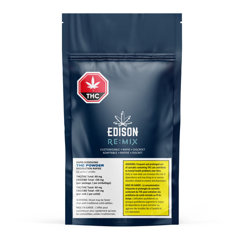 EDISON (RE)MIX THC (H) POWDER - 5MG THC X 2