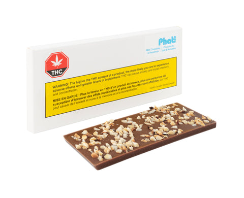 PHAT420 MILK CHOCOLATE W/ HAZELNUTS (H) CHOC - 10MG THC