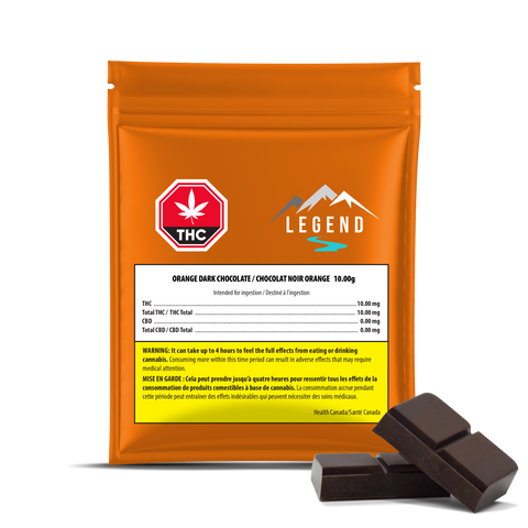 LEGEND ORANGE DARK CHOCOLATE (H) CHOC - 2.5MG THC X 4