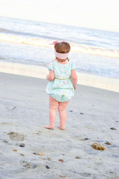 Mint and Gold Romper