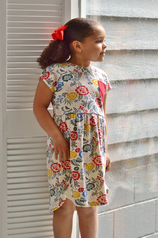 Vintage Floral Abbey Dress