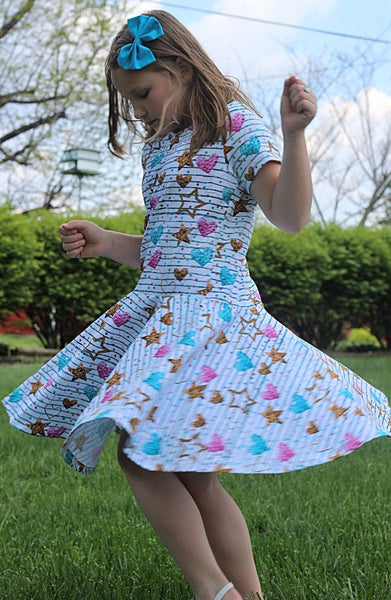 80s Magic Twirl Dress