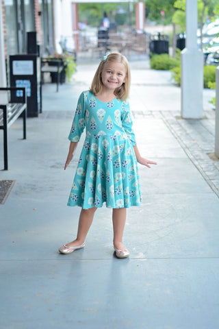 Turquoise Twirl Dress