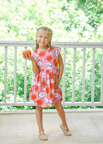 Pink Apple Back to School Dress
