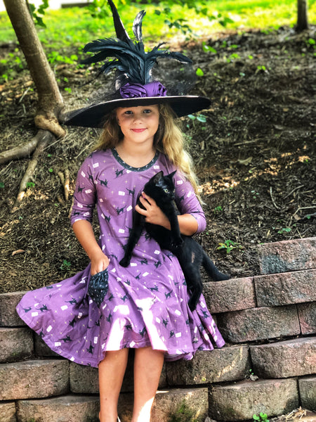 Black Cats Halloween twirl dress