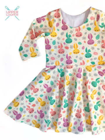 Retro Bunny twirl dress