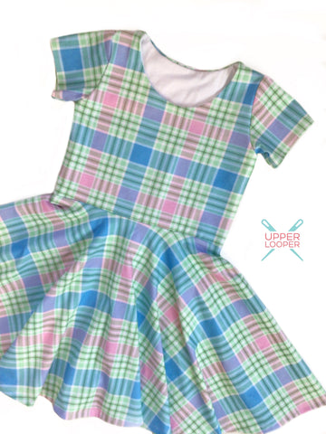 Spring Plaid twirl dress