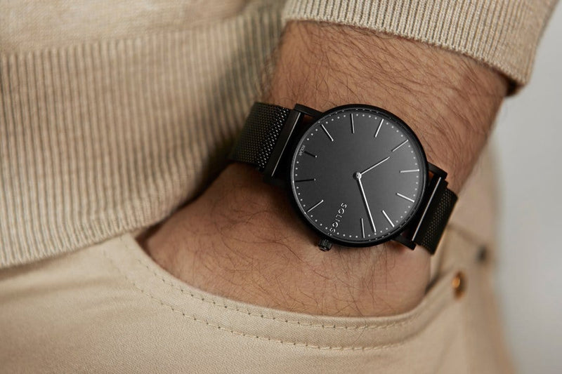 Solar watch sustainable watch minimalist watch for him collection men