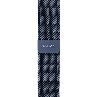 Solios store band Blue Mesh Metal