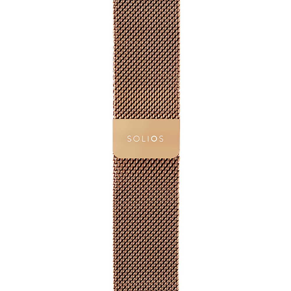 Solios store band Rose-Gold Mesh Metal