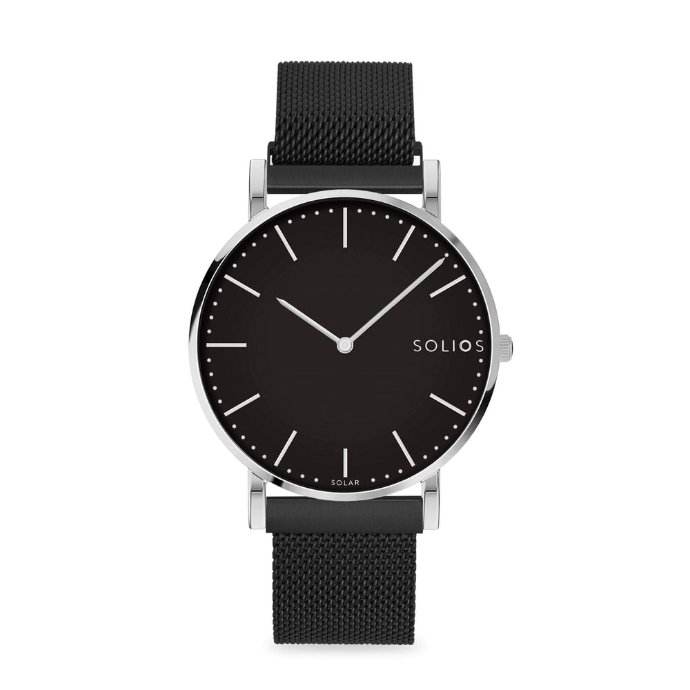 Solios store watch 36mm / 215mm Lux | Black Mesh