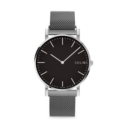 Solios store watch 36mm / 215mm Lux | Grey Mesh