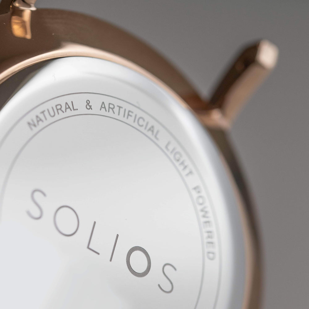 Solios store watch 36mm Gamma | Green Eco Leather