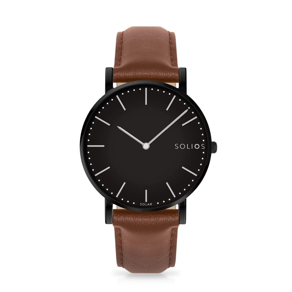 Solios store watch 40mm Nebula | Brown Eco Leather