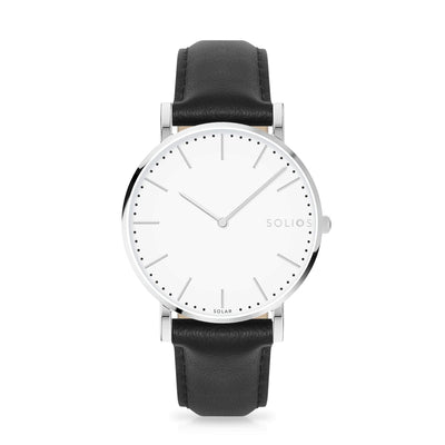 Solios store watch 40mm Nova | Black Eco Leather