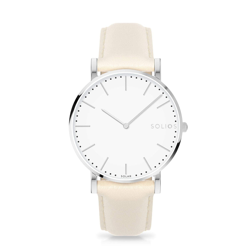 Solios store watch 40mm Nova | Cream Eco Leather