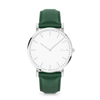 Solios store watch 40mm Nova | Green Eco Leather