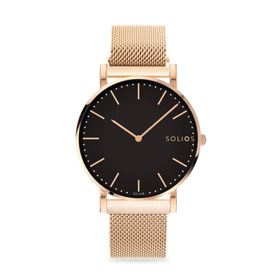 Solios store watch Eclipse | Rose-Gold Mesh