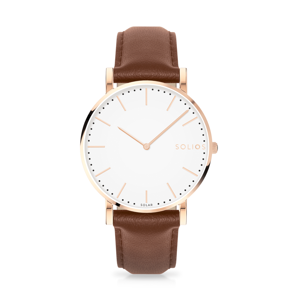 Solios store watch Gamma | Brown Eco Leather