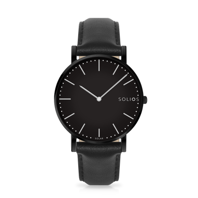 Solios store watch Nebula | Black Eco Leather