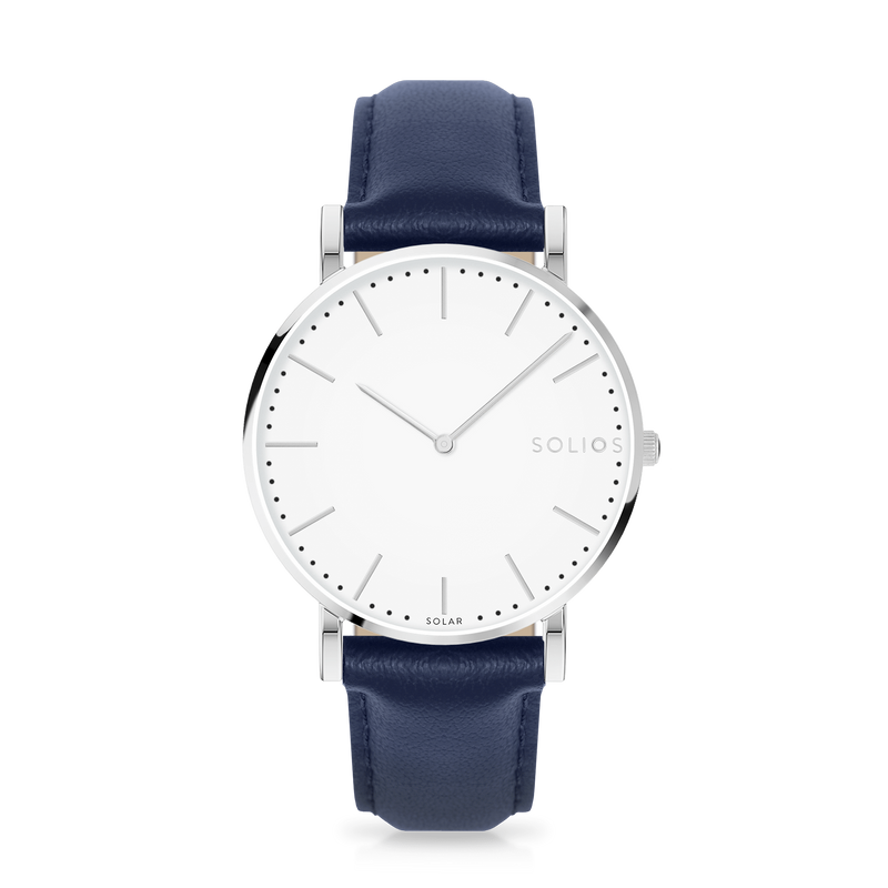 Solios store watch Nova | Blue Eco Leather