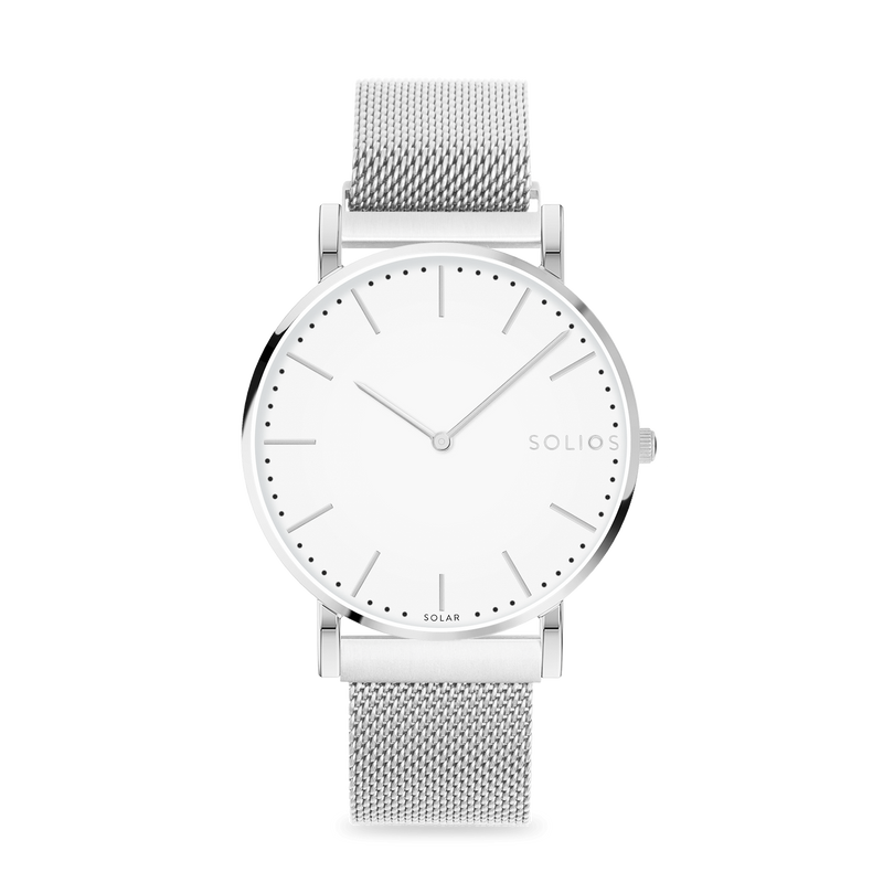 Solios store watch Nova | Silver Mesh