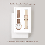 Solios Watches Gamma Bundle | Rose Gold + Cream Eco