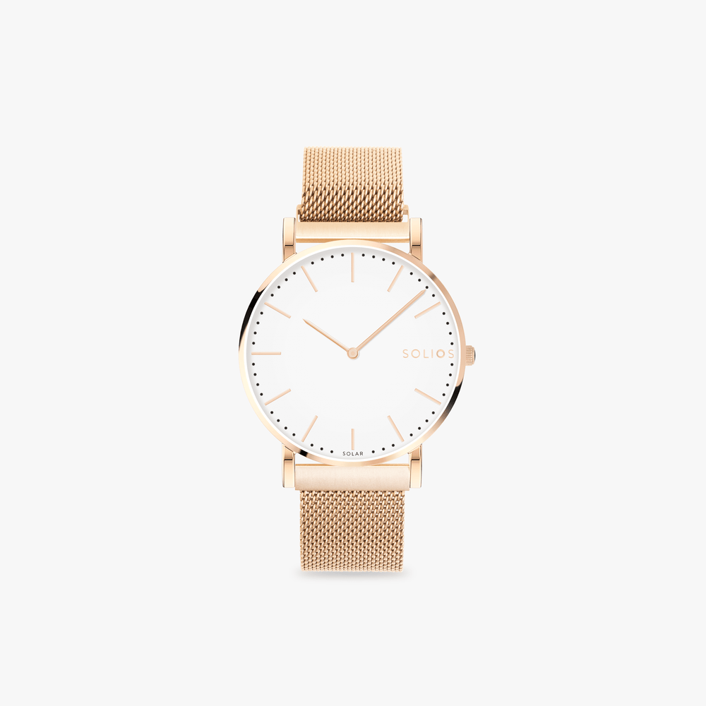 Solios Watches Gamma - Rose Gold + Eco Cream