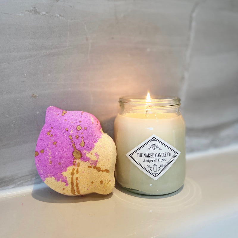 Pamper Package - Signature Candle & Bath Bomb