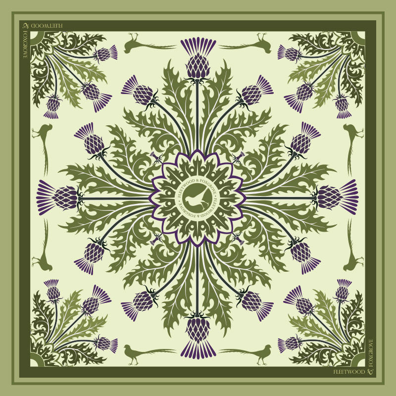 Thistle Green - 100% silk
