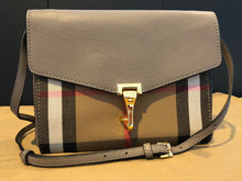 Load image into Gallery viewer, Authentic BURBERRY Small Leather and House Check Crossbody 4020304 - Thistle Grey