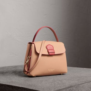 Authentic BURBERRY 4059981 Small Two-tone Leather and House Check Tote RRP AUD $2350