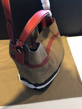 Load image into Gallery viewer, Authentic Burberry The Medium Ashby In Canvas Check And Leather, Cadmium Red RRP  $1125