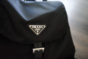 Authentic Prada Tessuto Saffiano Nylon fabric backpack